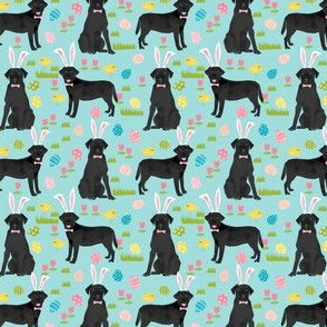 black lab fabric labrador retriever easter pastel fabric cute dog design - blue - smaller version