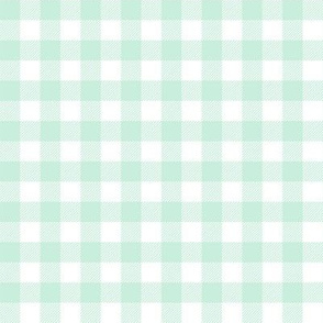 buffalo plaid mint and white outdoors camping fabric