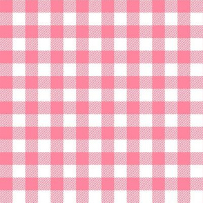 buffalo plaid white and pink fabric
