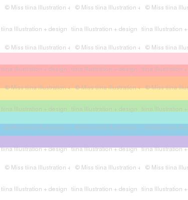 vintage rainbow stripes 2 // pastel