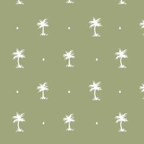 Tiny Palms - Gold / White - AndreaAlice