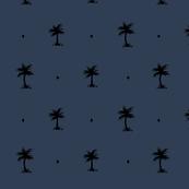 Tiny Palms - Dark Blue/Gold Coordinate #1