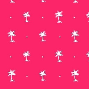 Tiny Palms - Pink / White - AndreaAlice