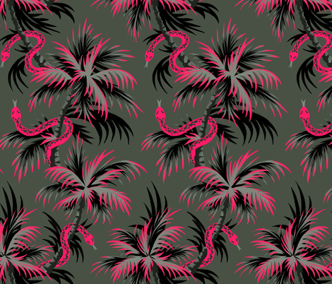 Vintage Coral - Dark - AndreaAlice fabric by andreaalice on Spoonflower - custom fabric