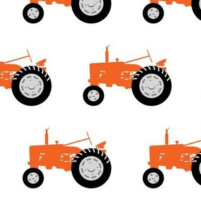 (large scale) tractors - tractor orange