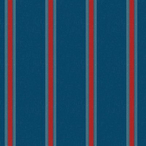 French Blue & Red stripe
