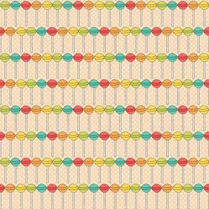 Rainbow Lollipops on Peach