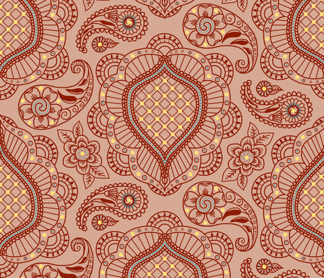 henna tattoos fabric by victorialasher on Spoonflower - custom fabric