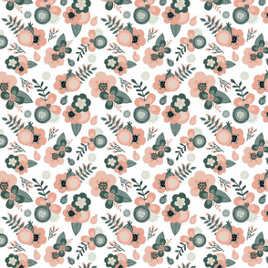 Sage & Coral Floral Small
