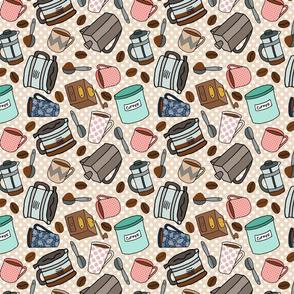 Making Coffee - small pattern