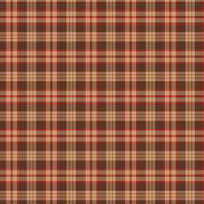 Brown and Red  Winter Plaid