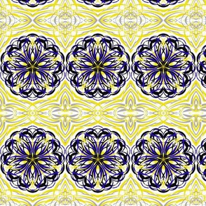 Elegant Swirly Curves Border Tiles