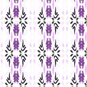 Watercolor Aztec - Purple