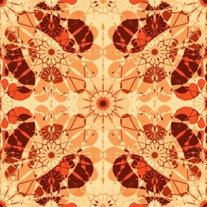 flowery abstract in apricot