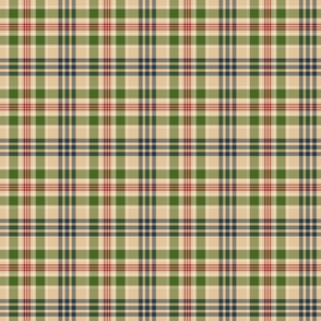 Plaid Pattern - Blue, Green, Red, and Tan