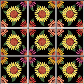 sunflower ttiles 6x6