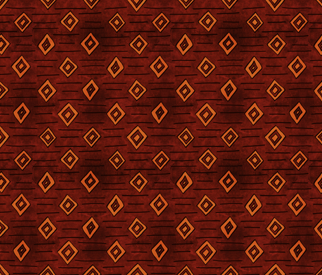 African Diamond Geometric in Earth Tones fabric by northern_whimsy on Spoonflower - custom fabric