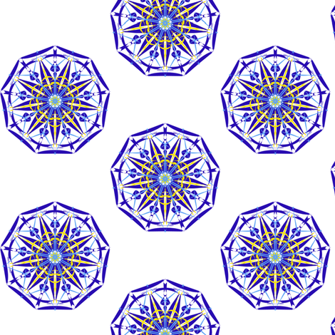 Guiding Stars on White fabric by rhondadesigns on Spoonflower - custom fabric
