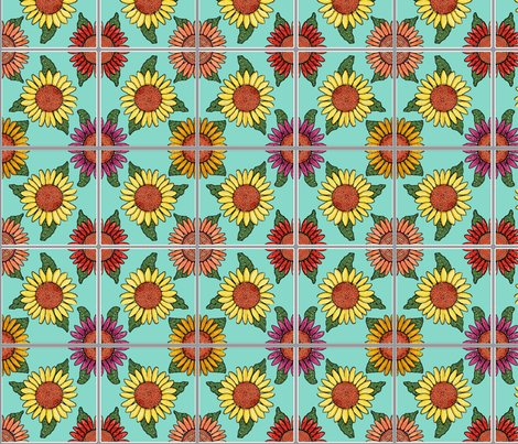 Rsunflowers-tiles-blue-4x4_shop_preview