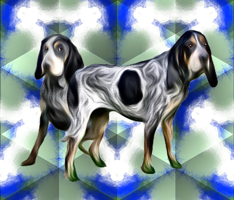 Bluetick  Coonhounds2 fabric by dogdaze_ on Spoonflower - custom fabric