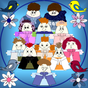 Hawk Family Group Fabric 1