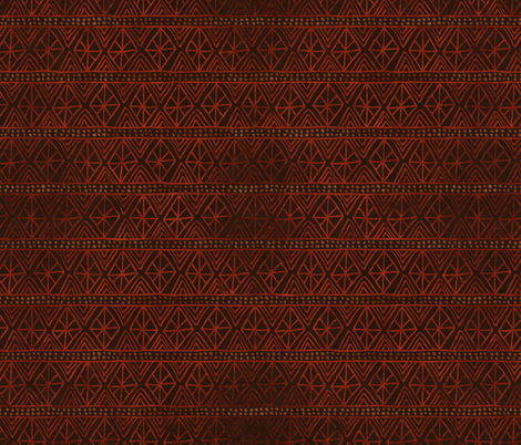 African Geometric Pattern in Earth Tones fabric by northern_whimsy on Spoonflower - custom fabric