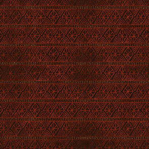 African Geometric Pattern in Earth Tones