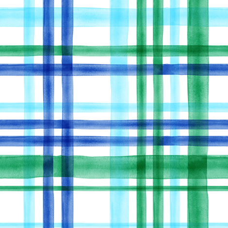watercolor plaid multi colored-02 fabric by littlearrowdesign on Spoonflower - custom fabric