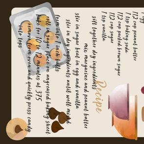 Peanut Blossom Cookie Recipe Tea Towel