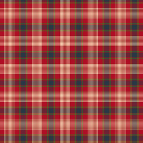 Red Blue and Green Plaid