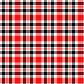 Red, Black, and White Plaid