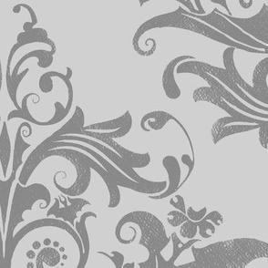 Calvarium Damask - gray