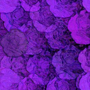 Violet Stamped Roses