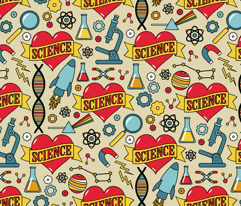 Scientific Tattoos fabric by robyriker on Spoonflower - custom fabric