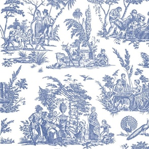 Marseilles Toile ~   Willow Ware Blue and White