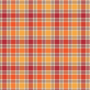Red Yellow and Orange Plaid