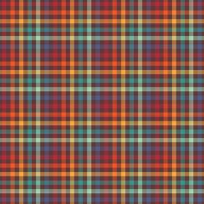 Retro Rainbow Plaid - medium size pattern
