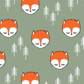 sleepy fox - sage