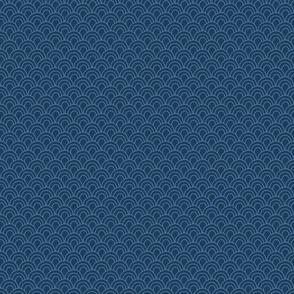 Navy Blue Scallop Pattern