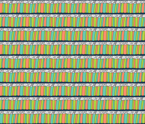 Book Shelf Pattern  fabric by northern_whimsy on Spoonflower - custom fabric