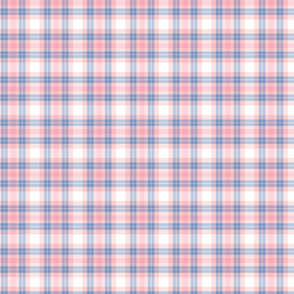 Pink and Periwinkle Plaid