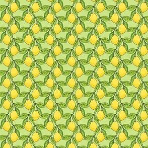 Lemon Branches on Green