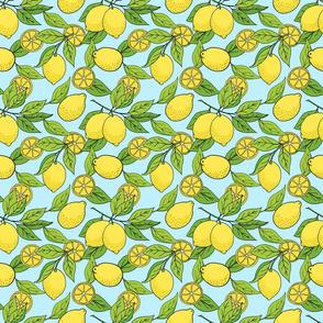 Lemon Branches on Blue