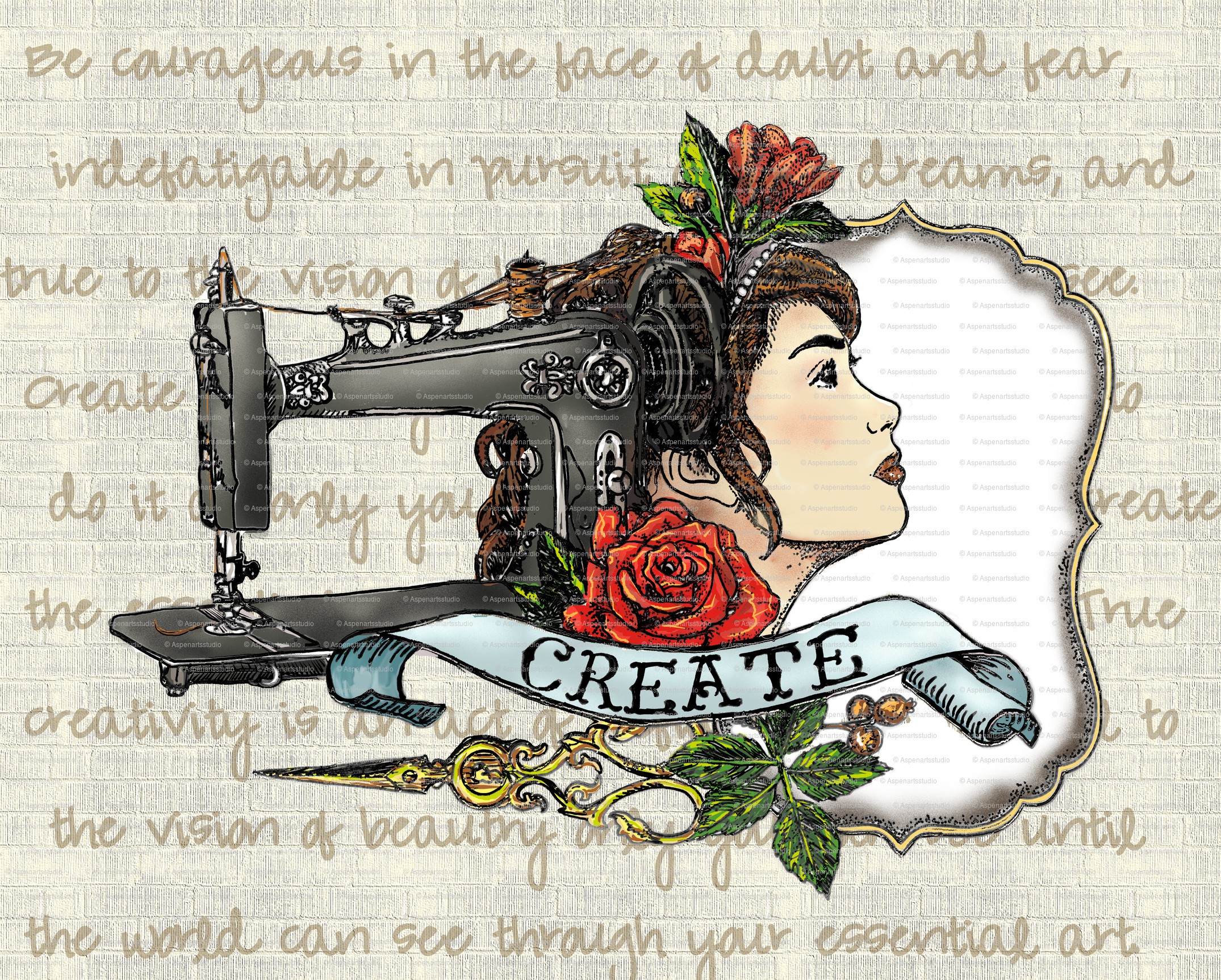 Sew Create Tattoo Inspired Text