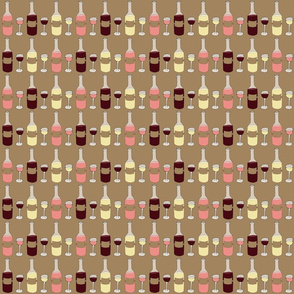 Wine Pattern - Red, White, and Rose