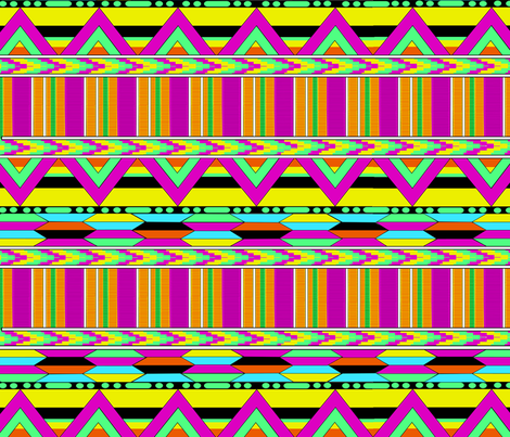Neon Africa fabric by makalarose on Spoonflower - custom fabric