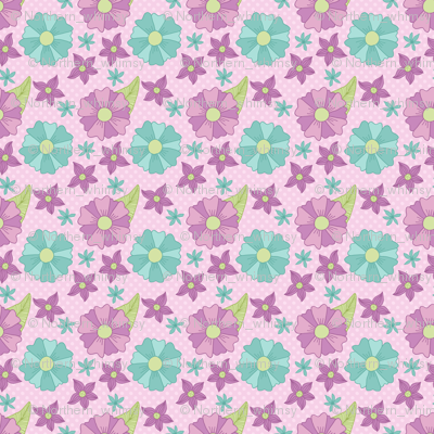Purple and Blue Floral Pattern