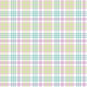 Spring Plaid - Green, Purple, and Blue