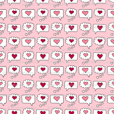 Valentines Speech Bubbles with Hearts