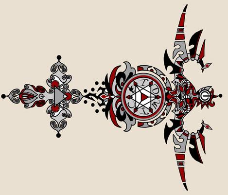 tatoo IDWIC fabric by monaharris on Spoonflower - custom fabric